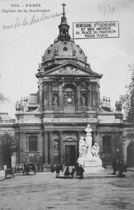 100  Eglise de la Sorbonne et statue d'Auguste Comte