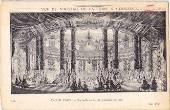 1000. Ancien Paris. La salle de bal du Vauxhall en 1772