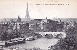 1004. Paris. Panorama pris du Louvre