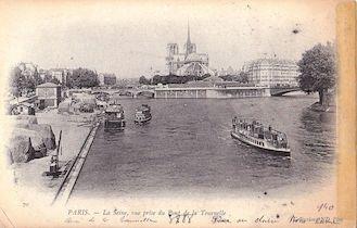 1006. La Seine vue du pont de la Tournelle