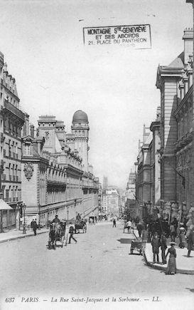 102B  La rue St Jacques et la Sorbonne