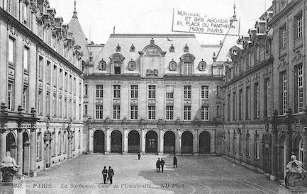 108B La sorbonne. Cour de l'Université