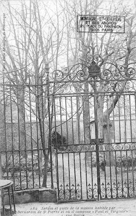 114 Maison habitée par Bernadin de St Pierre, rue Rollin