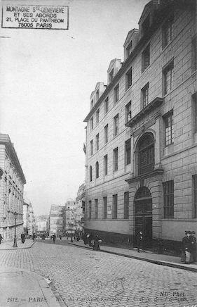 116B Le collège des Ecossais. Rue du Cardinal Lemoine