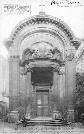 118  Chapelle de l'ancien collège des Lombards