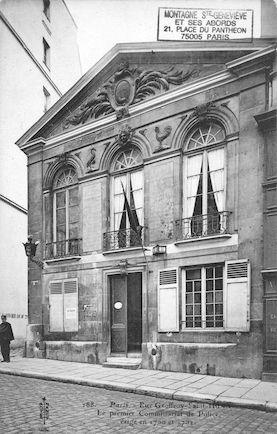 120 Rue Geoffroy St Hilaire. Le premier commissariat de Police 1700-1702