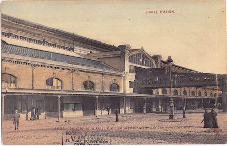 129couleurs  Sortie de la gare d'Orléans (Gare d'Austerlitz)