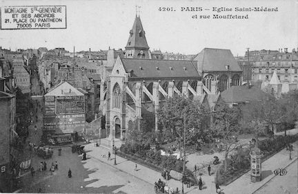 134 Eglise St Médard et rue Mouffetard