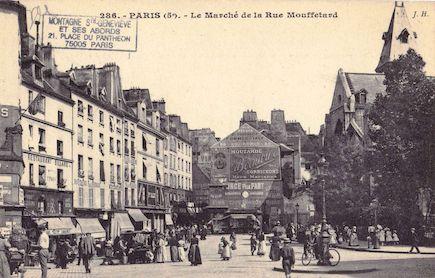 136  Le marché de la rue Mouffetard