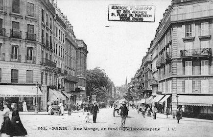 145 Rue monge avec au fond la Ste Chapelle