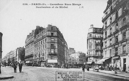 149B Rue Monge. Carrefour des rues Monge, Daubenton et de  Mirbel