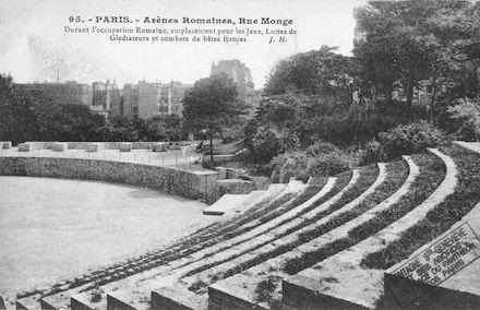 152  Rue Monge. Arènes romaines
