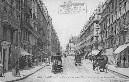 161 Rue Claude Bernard vue de la rue Bertholet