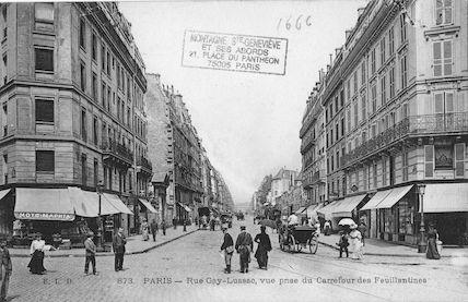 164 Rue Gay Lussac. Vue prise depuis le carrefour des Feuillantines