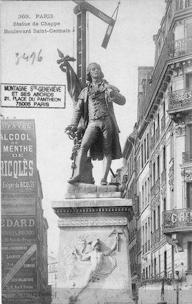 168  Boulevard St Germain. La statue de Chappe