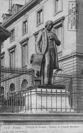 181 Collège de France. Statue de Claude Bernard