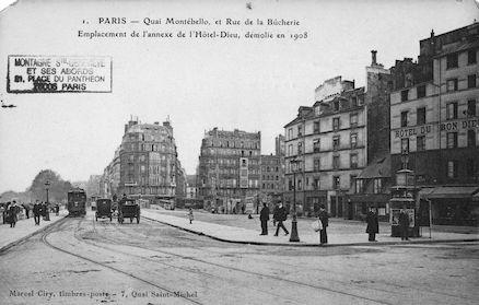 182 Quai Montebello et rue de la Bûcherie
