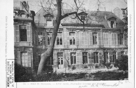 183 Hôtel de Miramion. XVIIème siècle. Pharmacie centrale des hôpitaux