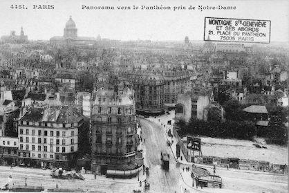 187 Panorama vers le Panthéon pris de Notre-Dame