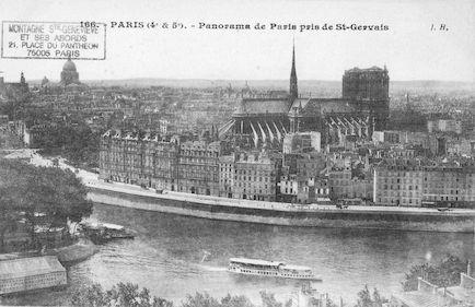 191 Panorama de Paris pris de St Gervais