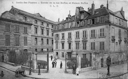 194  Jardin des Plantes. Entrée de la rue Buffon et maison Buffon