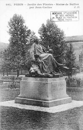196B Jardin des plantes. Statue de Buffon