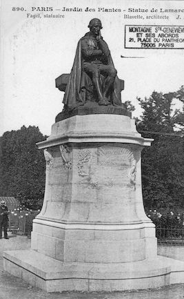 197B Jardin des plantes. Statue de Lamarck