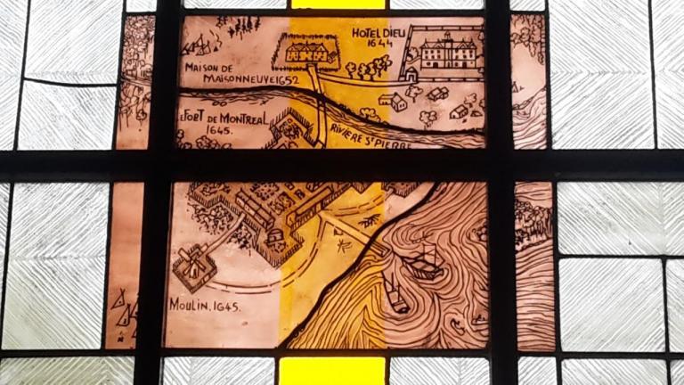Vitrail Paul de Maisonneuve. Eglise de Brouage #2