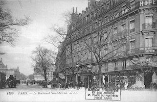 20a Boulevard St Michel à son arrivée sur la place du même nom