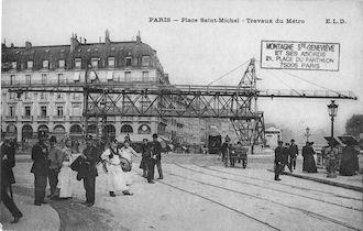 22 Place St Michel. Travaux du métro