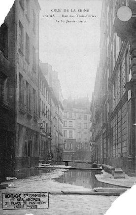 276 Crue de la seine. Rue des Trois-Portes