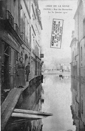 277 Crue de la Seine. Rue des Bernardins. 30 janvier 1910
