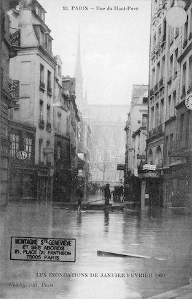 283 Les inondations de Janvier-février 1910. Rue du Haut -Pavé