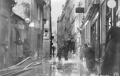 286 Crue de la Seine. 28 janvier 1910. Rue de Bièvre