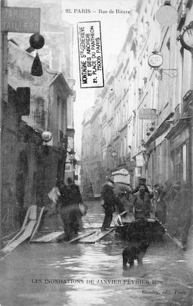 287 Les inondations de Janvier-Février1910. Rue de Bièvre