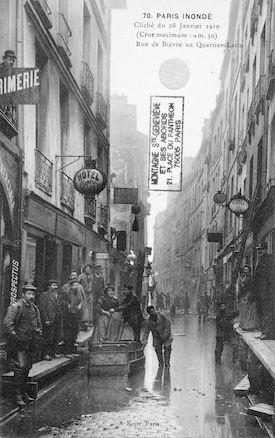 288 Paris inondé. 28 janvier 1910. Rue de Bièvre