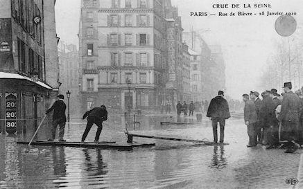 289B Crue de la Seine.Rue de Bièvre. 28 janvier 1910