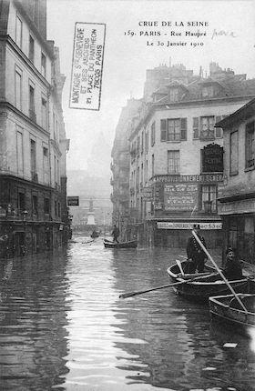 298A Crue de la Seine ( Rue du Haupré (Haut-Pavé)) 30 janvier 1910