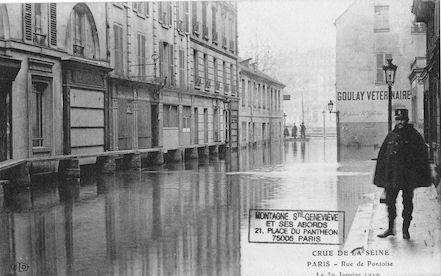 307 Crue de la Seine. Rue de Pontoise le 30 janvier 1910