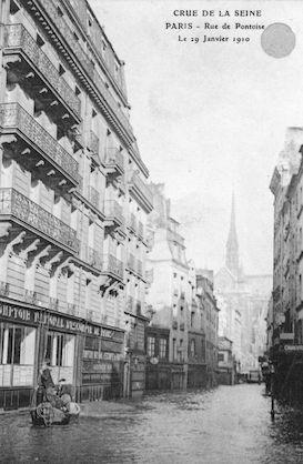 309 Crue e la Seine. Rue de Pontoise le 30 janvier 1910