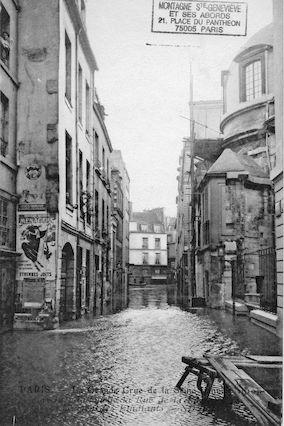 316bis La grande crue de la Seine (janvier 1910) Maisons des étudiants