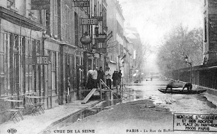 317 Crue de la Seine. La rue de Buffon