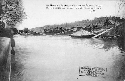 330 La crue de la Seine (janvier-février 1910) Au marché aux pommes
