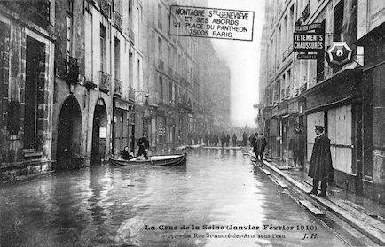 334B La crue de la Seine (janvier-février 1910) La rue Saint-André-des-Arts