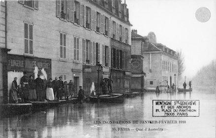 366 Les inondations de janvier-février 1910. Quai d'Austerlitz