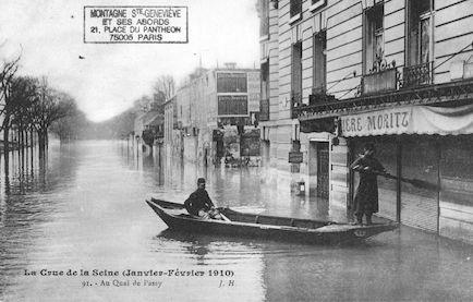 373 La crue de la Seine (janvier-février 1910) Au quai  de Passy