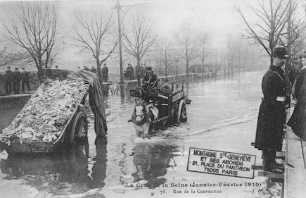 378 La crue de la Seine (janvier-février 1910) Rue de la Convention