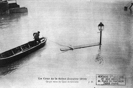 380B La crue de la Seine (janvier1910) Ce qui reste du quai de Grenelle