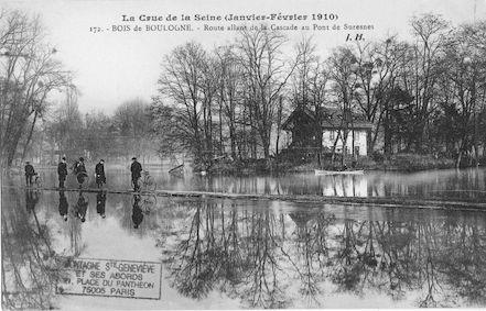 382 La crue de la Seine (janvier-février 1910) Bois de Boulogne