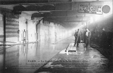 398 Crue de la Seine (jan-fév 1910) Inondation de la ligne Austerlitz-Orsay